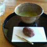 青山亭 - 抹茶とセットのお菓子