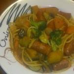 リングラツィオ - ソーセージと野菜のパスタ