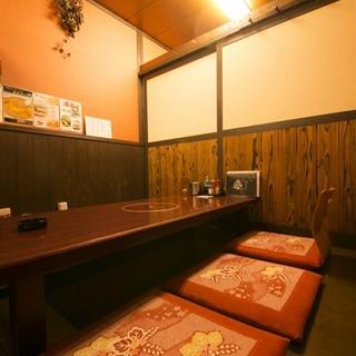 店内は完全個室のプライベート空間!