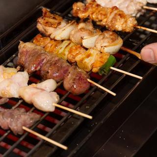 多種多様な焼き鶏