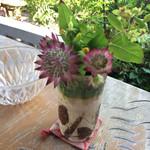 鬱花 - H2014.5月 テーブルに飾られたお花  和む〜♡