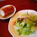 27597884 -  【2014/3】イタリアンランチ・1260円・パンとサラダ