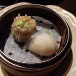 27599026 - 海鮮中華粥と点心のセット1200円 点心