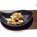 27599027 - 海鮮中華粥と点心のセット1200円  ザーサイ