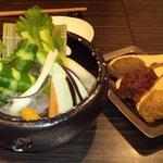 和粋&焼酎 miso bank - 嘗味噌3種盛り&野菜盛り合わせ