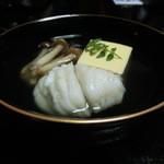 山ばな平八茶屋 -  脂目と玉子豆腐の椀