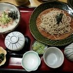サガミ - ねぎとろ丼セット(麺大盛)