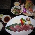 27614085 - 2014年の和牛ステーキ上天ぷら膳3218円