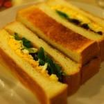 マヅラ喫茶店 -  タマゴトースト:400円('14.05月)