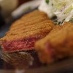 牛かつ 壱弐参 -  牛ロースかつ麦めしセット