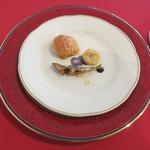 アルカション -  グジェール、稚鮎の素揚げ、バナナのソテー