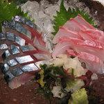魚や一丁 - 金華サバの〆さば と 天然小庄鯛の刺身