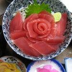 磯一 - マグロどんぶり..........厳選されたマグロを花造りにしてどんぶりにしました。1900円