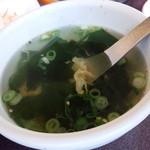 焼肉 とんがらし -  ワカメスープ