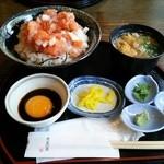 27648308 -  海鮮丼 鯛にゅう麺セット 大盛り (\880)