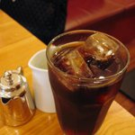 パパジョンズカフェ - PAPA JON'S cafe 新京極店 - 平日限定チーズケーキセット (750円) (写真はアイスコーヒー)