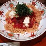 赤とんぼ - 生湯葉とモッツァレラチーズの冷製トマトソース