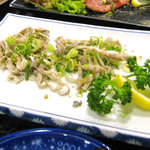 2767241 - 瑞園/食べかけの生センマイ、柔らかいです!