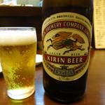 ホルモンばんちょう -  瓶ビール480円