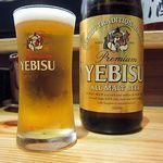 鳴門 -  まずはビール!(エビス)