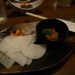 酒讃家 - 料理写真: フグの卵巣、糠漬けの炙り