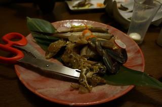 酒讃家 -  渡り蟹のカンジャンケジャン・・・一番まともだった料理です!!