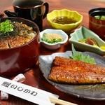 鰻いしかわ -  まぶし茶漬け 3500円 鰻3/4本