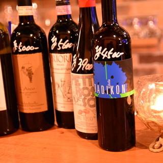 ワインはオーナーがその都度厳選