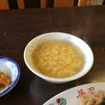華園 -  スープは、中華の玉子スープ