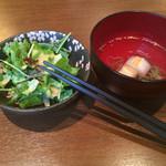 魚串さくらさく - ランチセットのサラダ