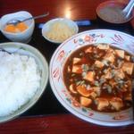 中華料理 清香屋 -  麻婆豆腐(絶品)。