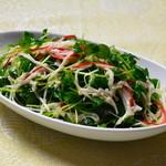 九龍城飯店  - シャキシャキ豆苗のサラダ  夏の香りを堪能しれください