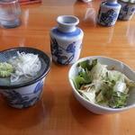 生粉打ち やじま -  サラダと出汁と薬味