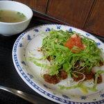 ちゅらかーぎ - タコライス(スープ付き) ¥600