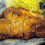 食処江なり - 料理写真:黒豚のステーキです、美味しかったですよ