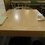 フェルム ド レギューム -  テーブルセッティングはすっきりとしています