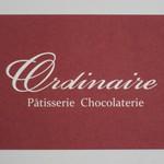 パティスリー ショコラトリー オーディネール - ショップカード