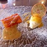 シェ・ヌゥ -  シェ・ヌゥからの季節のデセール(800円)タロッコオレンジ(サロン)