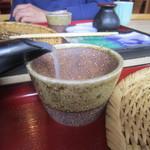 山桜 -  2014/5 蕎麦湯をいただきます