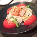 絆 - イタリアンサラダ ドレッシングがとても美味しかった