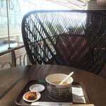 韓国料理 ミス コリア - 韓国の朝粥 これで950円は高いと思ったけど、丁寧に作ってあっておいしい。