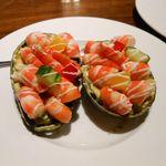 ガラスレンガ -  アボカド海老詰サラダ