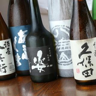 様々な日本酒も御用意。