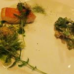 レストラン マノワ - 本日のお魚 金目鯛と山菜のフリット