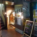 呑者家 - お店は地下一階になります