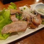 呑者家 - 「豚トロ塩焼き (500円)」