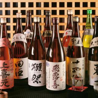 全国各地の銘酒を厳選!和食との相性にこだわりました。