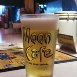 ムーンカフェ - MoonCafeオリジナルグラスの生ビール♪