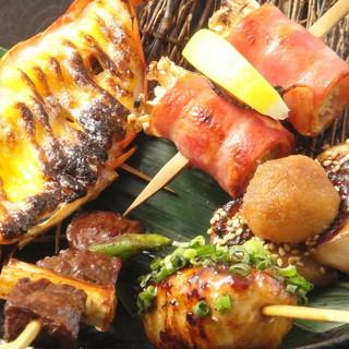 素材の味とそれを引き立てる味付けが魅力の串料理