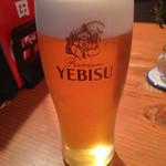 蕎麦切り 旗幟 - 恵比寿生ビール 中